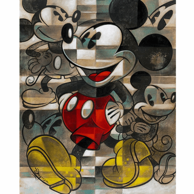 "Tim Rogerson Signed and Numbered Limited Edition Hand-Embellished Giclée on Canvas:""Drawing the Mouse"""