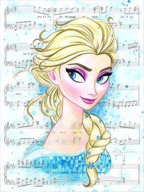 """Tim Rogerson Signed and Numbered Limited Edition Hand-Embellished Giclée on Canvas:""""Let It Go"""""""