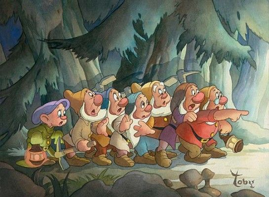 """Toby Bluth Artist Signed and Numbered Limited Edition Hand Deckled Giclee on Paper:""""Coming Home -Snow White's 70th Anniversary """""""