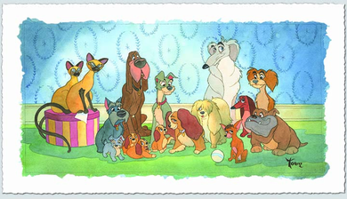 """Toby Bluth Artist Signed Limited Edition Hand Deckled Giclee on Paper:""""Family Portrait"""""""