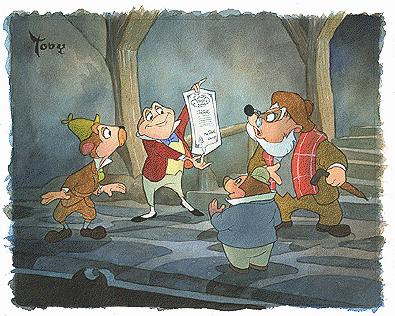 """Toby Bluth Handsigned and Numbered Limited Edition Hand Deckled Giclee on Paper:""""Triumphant Mr. Toad"""""""