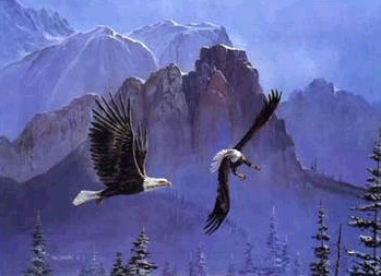 """Tom Dooley Handsigned and Numbered Limited Edition Lithograph: """"Encounter at Eagle Canyon"""""""