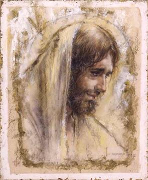 "Tom Dubois Limited Edition Giclee on Paper w/ Gold Foil :""Jesus """