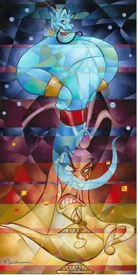 "Tom Matousek Hand Signed and Numbered Limited Edition Canvas Giclee:""Master of the Lamp"""