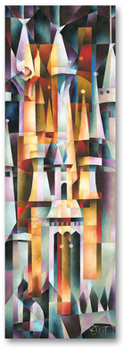 """Tom Matousek Hand Signed and Numbered Limted Edition Canvas Giclee:""""Majestic Palace"""""""