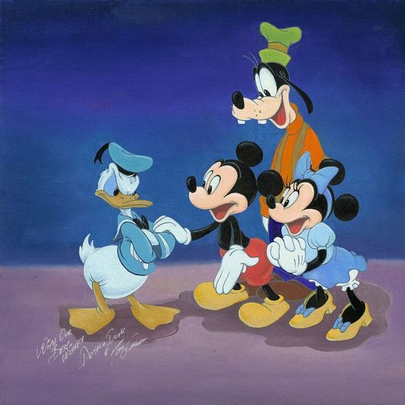 """Tony Anselmo (Voice of Donald Duck) Limited Edition Canvas Giclee:""""Cheering Up Donald"""""""