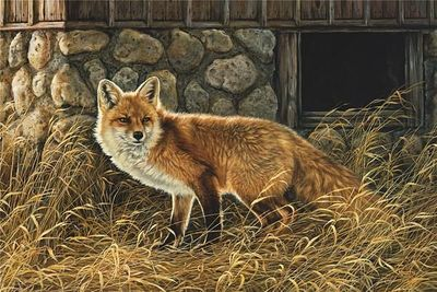 "Rosemary Millette Artist Signed Limited Edition Giclee Canvas:""Silent Hunter"""