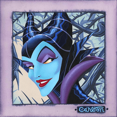 """Trevor Carlton 2011 Disney Halloween Hand-Embellished Limited Edition on Textured Canvas :""""Twisted and Evil"""""""
