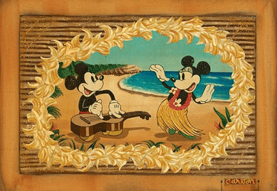 "Trevor Carlton Disney Fine Art Limited Edition Giclee on Canvas:""Hula in Paradise"""