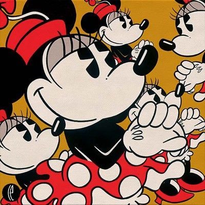 """Trevor Carlton Handsigned and Numbered Limited Edition Giclee on Canvas:""""Many Minnies"""""""