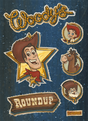 """Trevor Carlton Signed and Numbered Hand-Textured Giclée on Canvas: """"Woody's Roundup"""""""