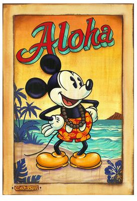"""Trevor Carlton Signed and Numbered Limited Edition Hand-Textured Giclée on Canvas:""""Waves of Aloha"""""""