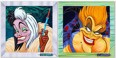 """Trevor Carlton Signed and Numbered Suite of 2 Giclée on Canvas Editions:""""Villains Suite"""""""