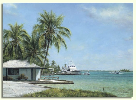 """Tripp Harrison Hand Signed and Numbered Limited Edition Print:""""Harbour Landing"""""""