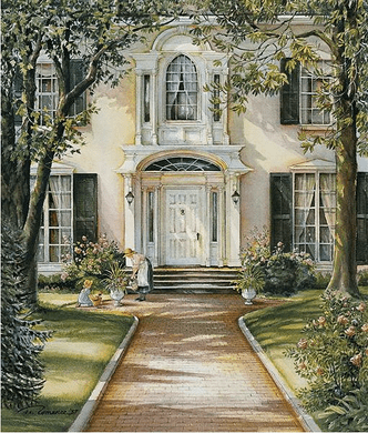 """Trisha Romance Hand Signed and Numbered Limited Collectors Edition Canvas Giclee:""""The Pathway"""""""