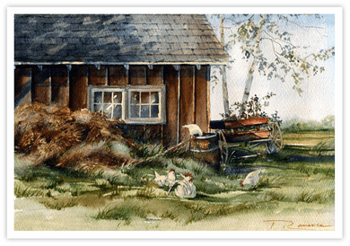 "Trisha Romance Hand Signed and Numbered Limited Edition Canvas Giclee :""Hen House"""