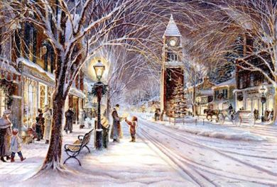 "Trisha Romance Hand Signed and Numbered Limited Edition Giclee:""Candlelight Stroll"""