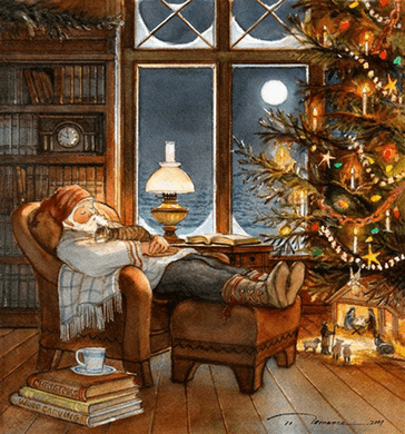 "Trisha Romance Hand Signed and Numbered Limited Edition Giclee:""Christmas Nap"""