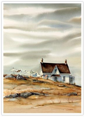 "Trisha Romance Hand Signed and Numbered Limited Edition Giclee:""East Coast Laundry"""