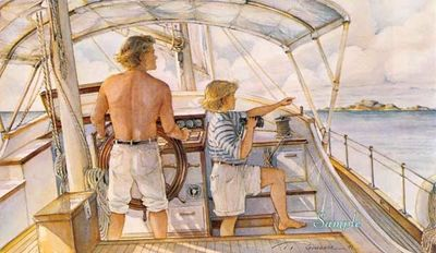 """Trisha Romance Hand Signed and Numbered Limited Edition Giclee:""""First Mate"""""""