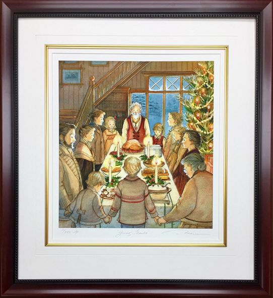 """Trisha Romance Hand Signed and Numbered Limited Edition Giclee:""""Giving Thanks"""""""