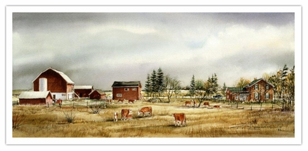 """Trisha Romance Hand Signed and Numbered Limited Edition Giclee:""""Hornby Farm"""""""