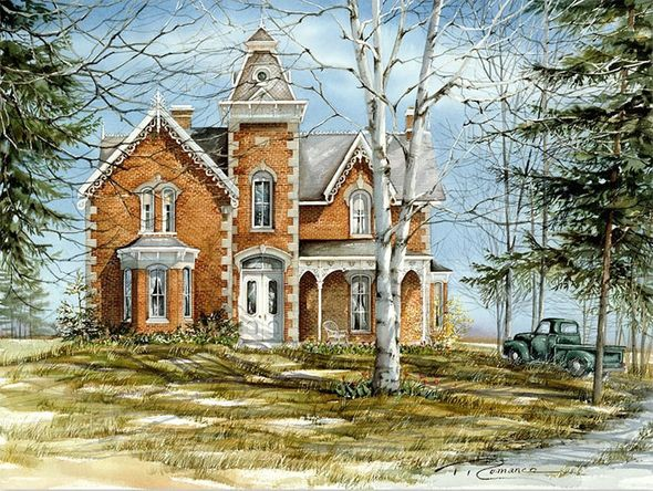 """Trisha Romance Hand Signed and Numbered Limited Edition Giclee:""""Kaneff House"""""""