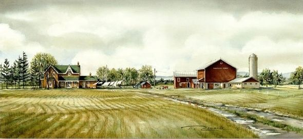 "Trisha Romance Hand Signed and Numbered Limited Edition Giclee:""Maymar Farm"""