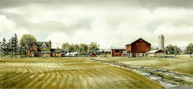 """Trisha Romance Hand Signed and Numbered Limited Edition Giclee:""""Maymar Farm"""""""