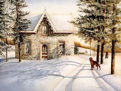 """Trisha Romance Hand Signed and Numbered Limited Edition Giclee:""""Morning Chores"""""""