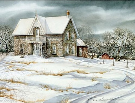 """Trisha Romance Hand Signed and Numbered Limited Edition Giclee:""""Orchard House"""""""