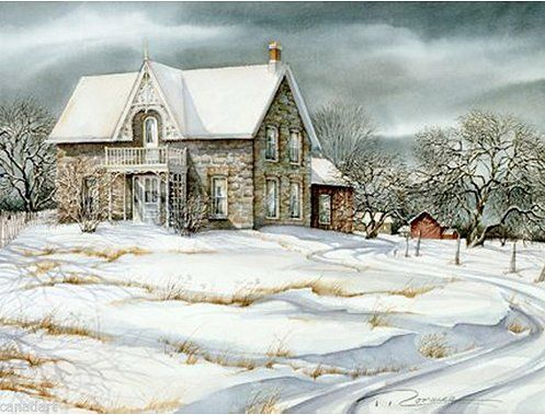 "Trisha Romance Hand Signed and Numbered Limited Edition Giclee:""Orchard House"""