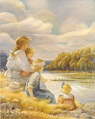 """Trisha Romance Hand Signed and Numbered Limited Edition Giclee:""""Regatta"""""""
