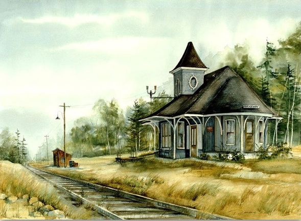 """Trisha Romance Hand Signed and Numbered Limited Edition Giclee:""""Ridgeway Station"""""""