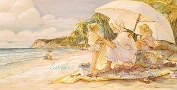 "Trisha Romance Hand Signed and Numbered Limited Edition Giclee:""Sea Treasures"""