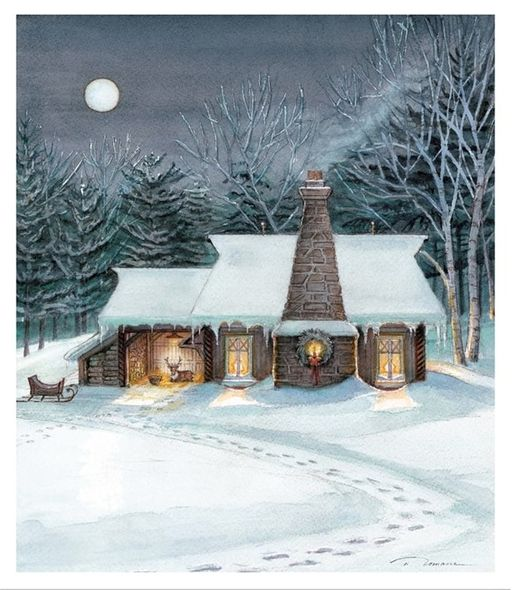 """Trisha Romance Hand Signed and Numbered Limited Edition Giclee:""""Silent Moon"""""""
