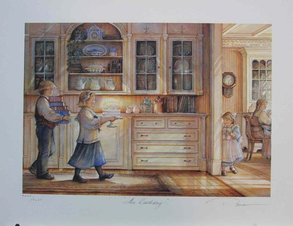 "Trisha Romance Hand Signed and Numbered Limited Edition Giclee:""The Birthday"""