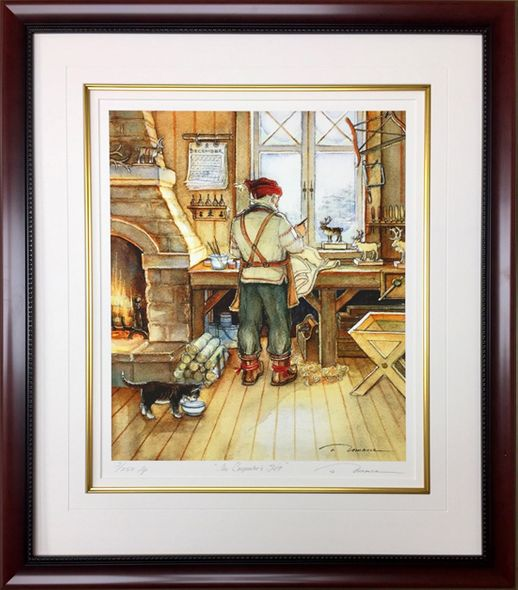 "Trisha Romance Hand Signed and Numbered Limited Edition Giclee:""The Carpenters Gift"""