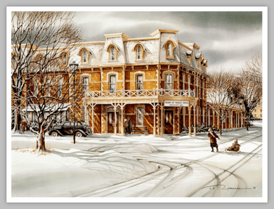 """Trisha Romance Hand Signed and Numbered Limited Edition Giclee:""""The Prince of Wales Hotel"""""""