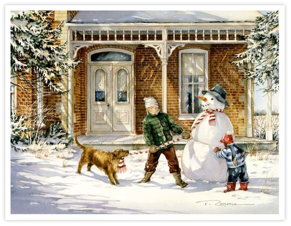 """Trisha Romance Hand Signed and Numbered Limited Edition Giclee:""""The Snowman"""""""