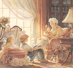 """Trisha Romance Hand Signed and Numbered Limited Edition Giclee:""""The Storyteller"""""""