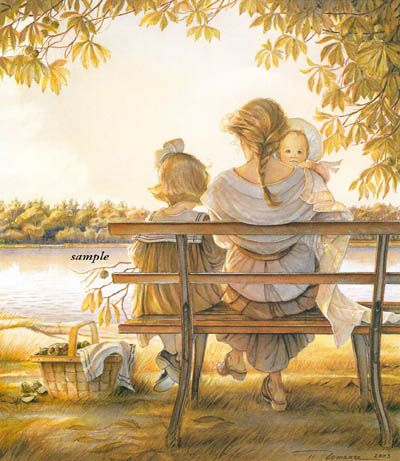 "Trisha Romance Hand Signed and Numbered Limited Edition Print:""Golden Moments"""