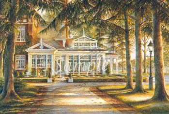 """Trisha Romance Hand Signed and Numbered Limited Edition Print """"The Conservatory"""""""