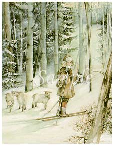 """Trisha Romance Hand Signed and Numbered Limited Editon Print """"Lost Sheep"""""""