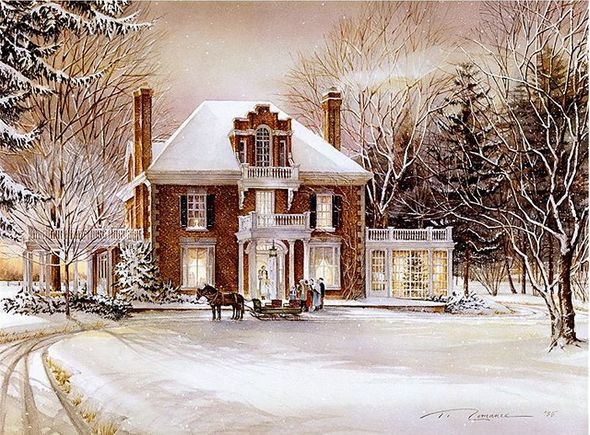 "Trisha Romance Hand Signed and Numbered Limited Grand Legacy Edition Canvas Giclee:""Winter Fantasy"""