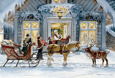 """Trisha Romance Handsigned and Numbered Limited Edition: """" Christmas Eve """""""
