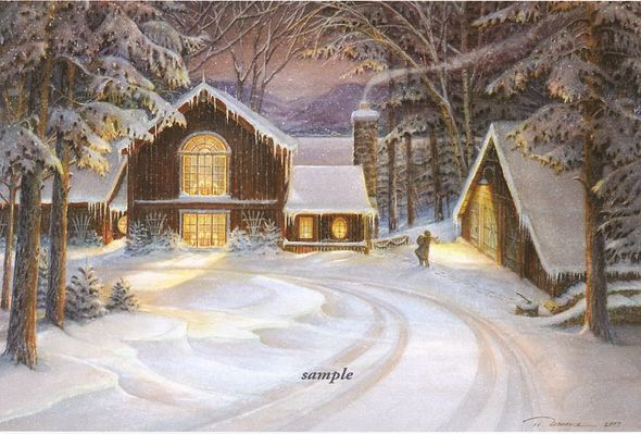 """Trisha Romance Handsigned & Numbered 2007 Christmas Limited Edition Print :""""A Star for Christmas """""""
