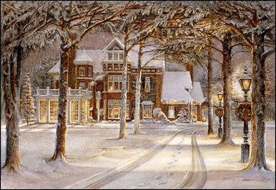 """Trisha Romance Handsigned & Numbered Limited Grand Romance Collectors Edition Canvas Giclee: """"Silent Night"""""""