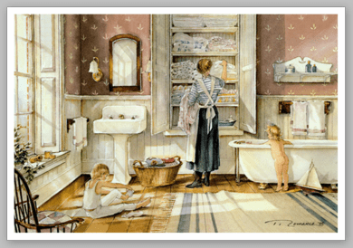 "Trisha Romance Limited Edition Grand Romance Canvas:""Bathtime"""