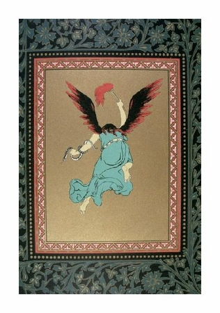 """Unknown Fine Art Open Edition Giclée:""""An Angel with Flame Red Wings and a Snake Aroundits Arm"""""""